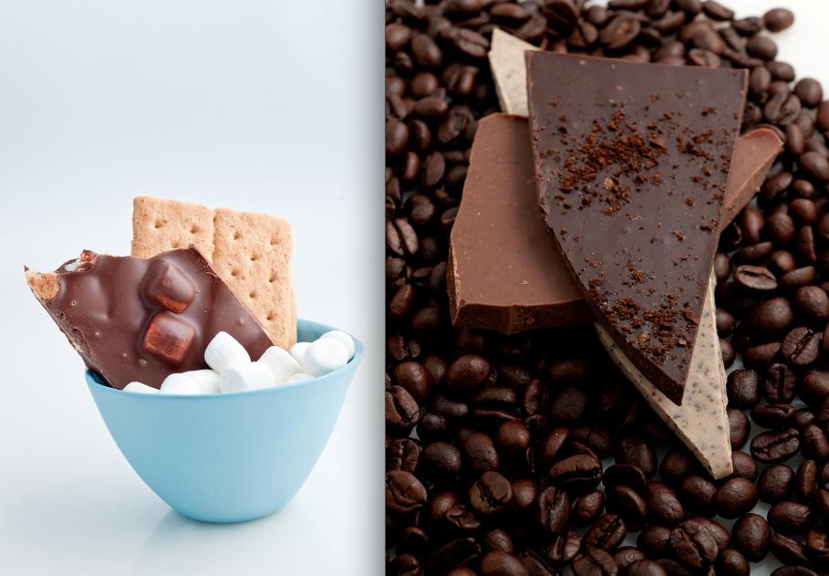 Delysia Chocolatier's S'mores Chocolate Bark and Dark Chocolate Coffee Bark