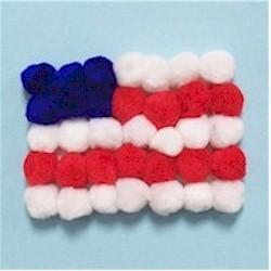 President's Day pom-pom flag crafts by Delysia Chocolatier!