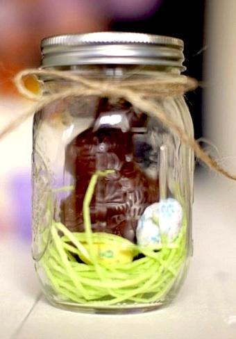 Delysia Chocolatier bunny mason jar.