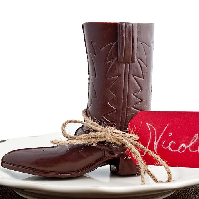 Delysia-Chocolatier-Cowboy-Boot-Molded-Chocolate-2