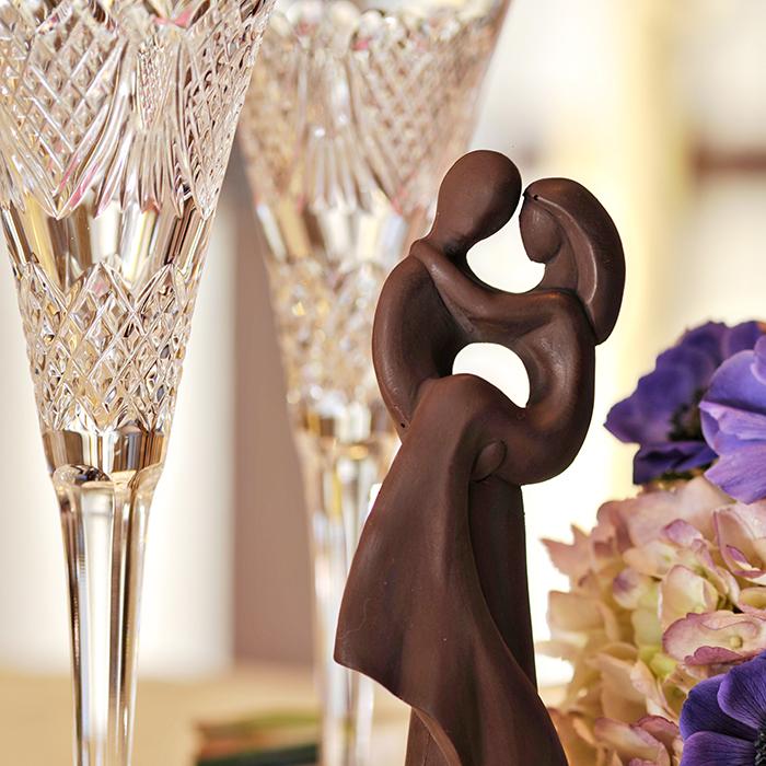 Delysia Chocolatier bride and groom molded chocolate