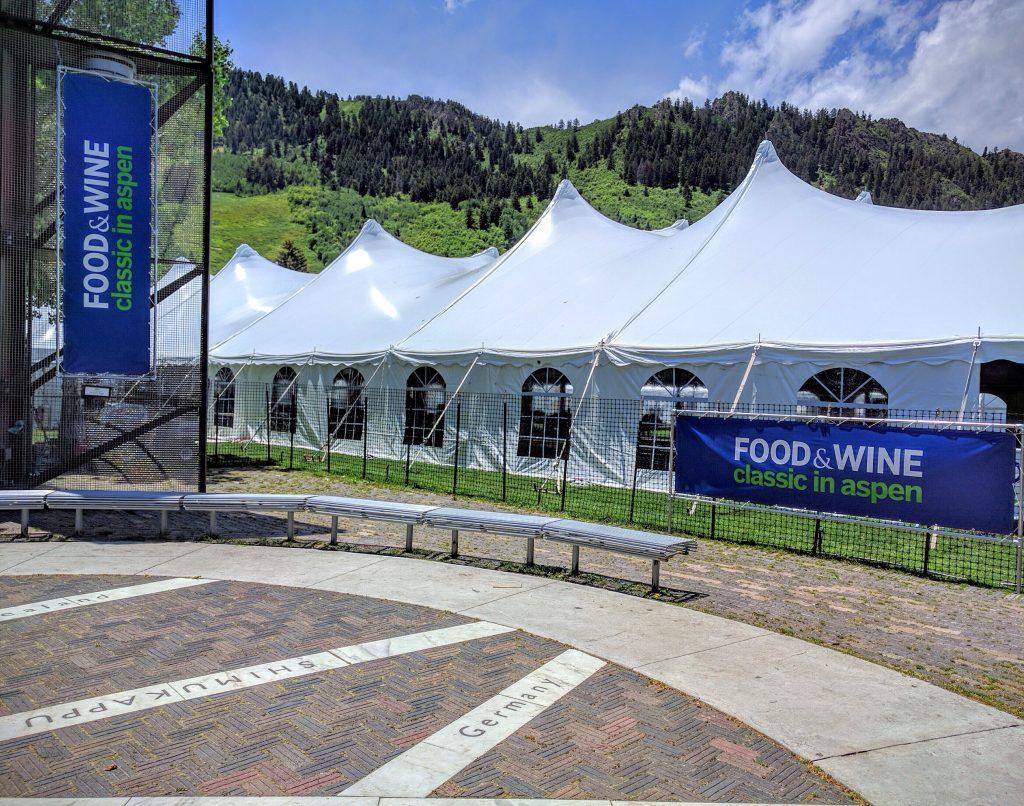 Grand Tasting tents in Aspen