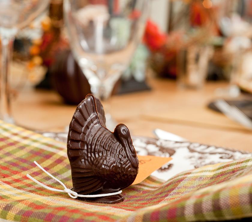 Molded chocolate Turkey