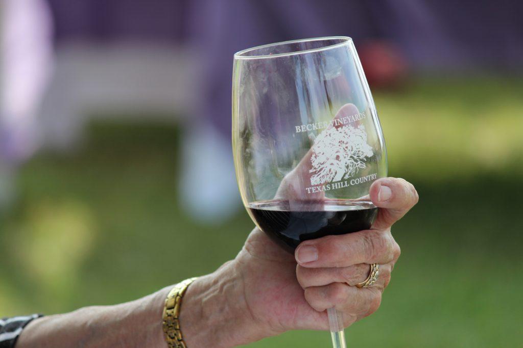 becker vineyards wine in the summer