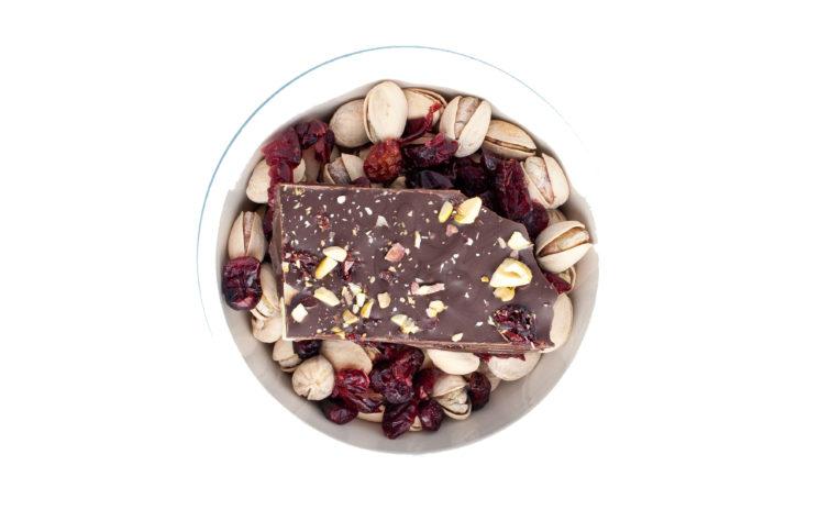pistachio cranberry dark chocolate bark
